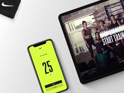 Nike's connected Digital workout crossfit ux ui exercise workout arcade mobile tablet design app nike