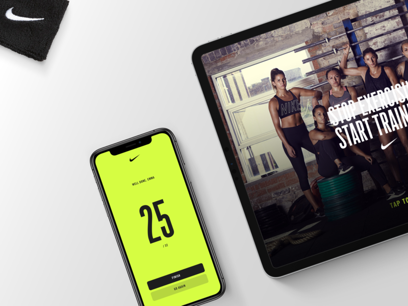 Nike's connected Digital workout crossfit ux ui exercise workout arcade mobile tablet design app nike
