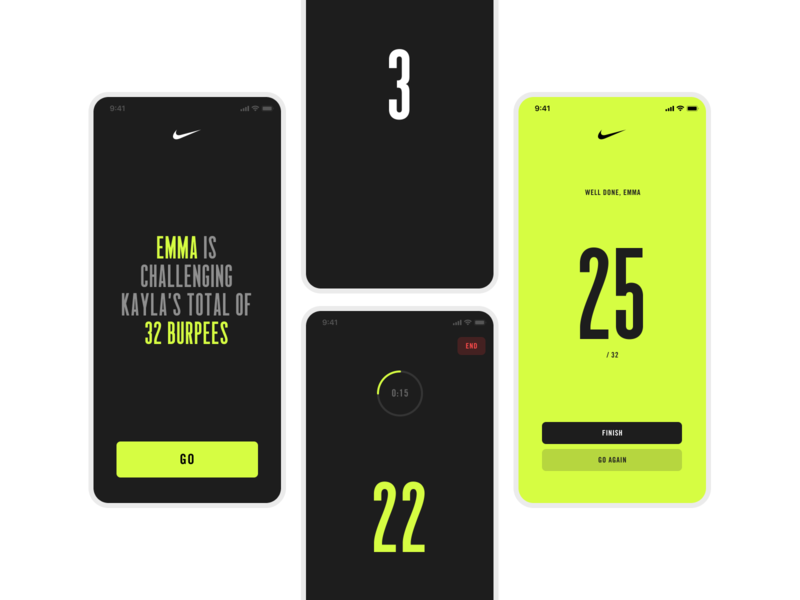 Nike Trainers App trainer workout tracker workout app exercise workout nike app mobile ux ui