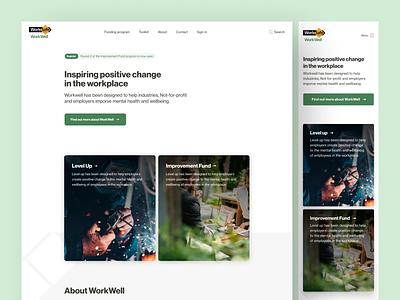 Workwell • Homepage program government mental health awareness mobile homepage homepage landing page