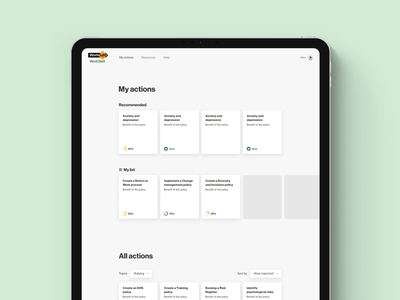 WorkWell • My actions teaching training online tool online training toolkit to do list to do app to do actions mental health awareness mentalhealth mental health government