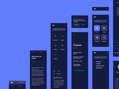 EstimateOne • Navigation Concepts menu sidebar menu search projects sidebar navigation navigation drawer navigation menu navigation bar sidebar navbar navigation