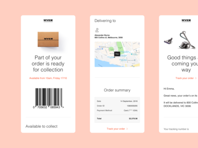 Purchase Emails — Myer