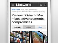 Macworld Mobile Navigation