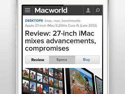 Macworld Mobile Navigation mobile responsive navigation menu macworld