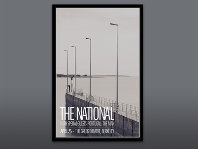 Gig Poster – The National poster concert print berkeley sepia grey gray gig poster the national portugal. the man