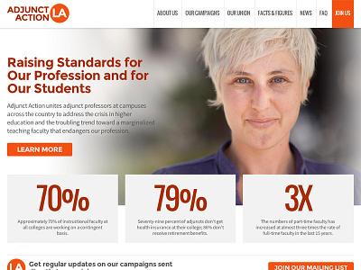 Adjunct Action Los Angeles responsive website university union faculty professors