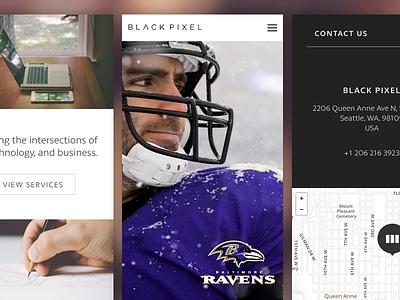 Black Pixel Website black pixel web mobile responsive work map sports