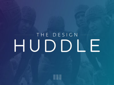 The Design Huddle gradient vintage football commentary links roundup newsletter craft medium bpxl