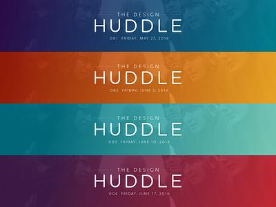The Design Huddle is Our Jam gradient vintage football newsletter banner medium