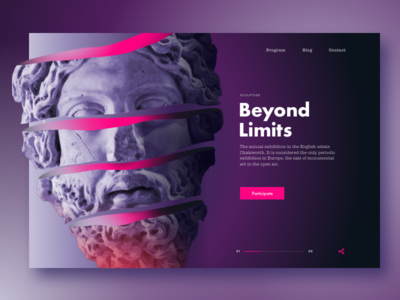 Exhibition landing page