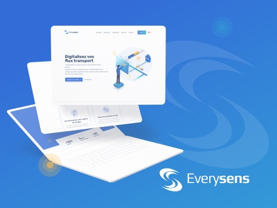 Website Everysens 02 blue web uxdesign ux design everysens artificialintelligence mockup transport illustrations uidesign branding webdesign