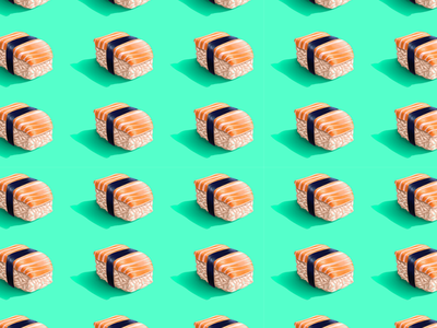 Sushi Symphony sofiane who knocks blue sea multiplication japanese japan maki fish graphic design pattern food sushi