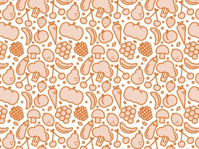 Fruits & Veggies Pattern vegetables vector simple seamless pattern linear icons pattern linear icons healthy green fruits bio