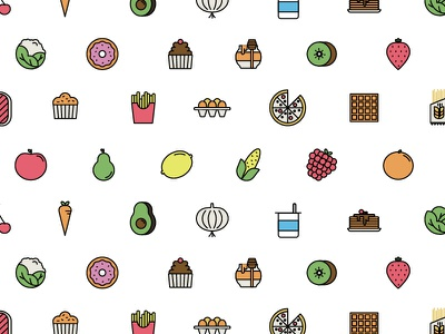 Food Icons food vector seamless pattern pattern linear icons icons healthy green fruits bio