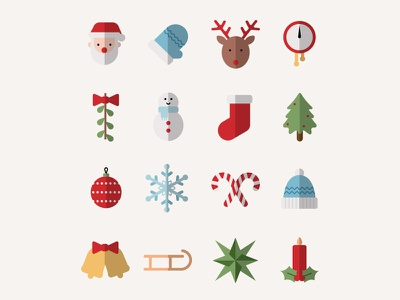 Christmas Icons winter vector linear icons iconography flat icon christmas