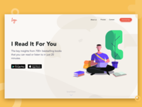 Landing page design for Book Summary App