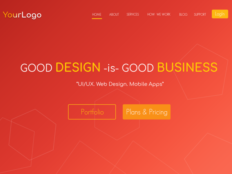 Landing Page gradient background gradient design website design company profile corporate design ui typography design ui dashboard photoshop