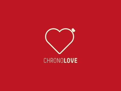 Chrono Love Logo logo graphic design icon illustrator flat passion decima font chronometer stopwatch heart chrono love logo inspiration