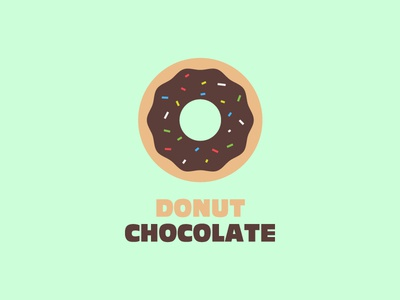 Donut Chocolate bakery donut chocolate food icon breakfast graphic design logo inspiration illustrator flat icon logo brand design