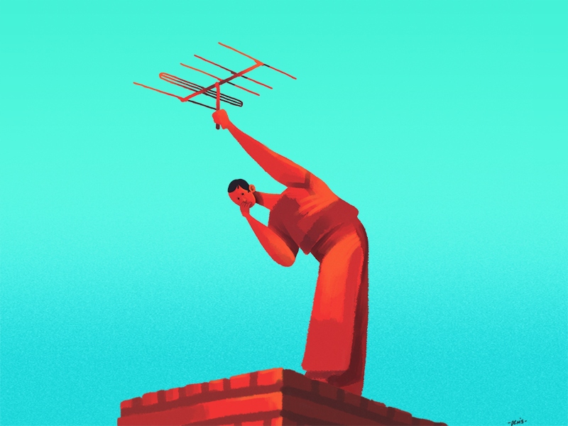 No Signal by Denis Angelov on Dribbble