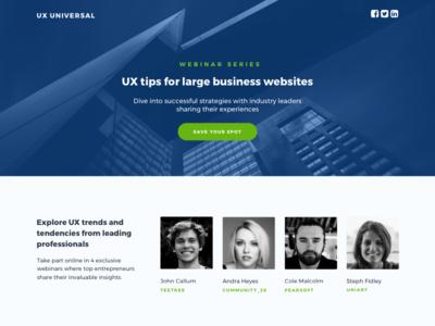 HubSpot Project - UX Webinar Template Series