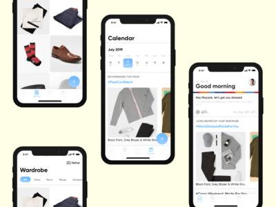 Smart Closet/Wardrobe- App Concept