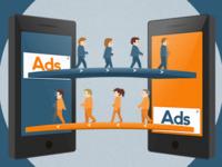 Smartphones + users illustration