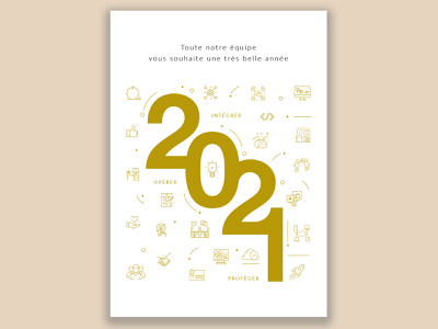 New year's card illustration vector card print new year card