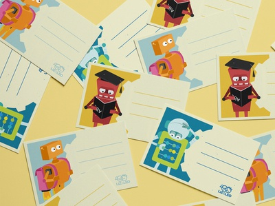 Notebook robot stickers