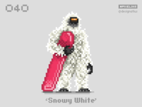#pixel365 Num. 040: 'Snowy White'
