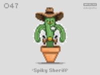 #pixel365 Num. 047: 'Spiky Sheriff'