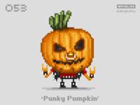 #pixel365 Num. 053: 'Punky Pumpkin'