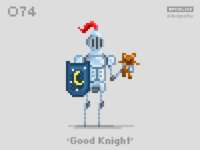 #pixel365 Num. 074: 'Good Knight'