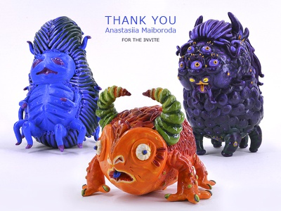 Cute Monsters monsters cute handmade sculpture modeling plasticine air-dry