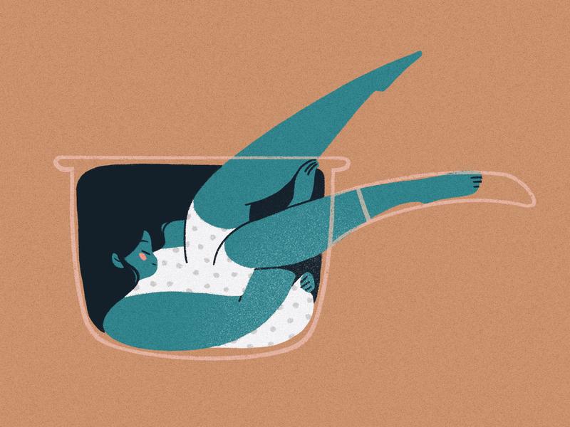 Comfort in Objects: Saucepan procreate cute experimentation flavor quarantine objects comfort saucepan cooking illustration