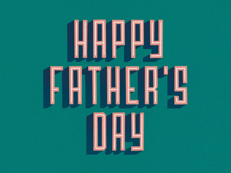 Happy Father's Day block letters green dad design fathersday procreate typography