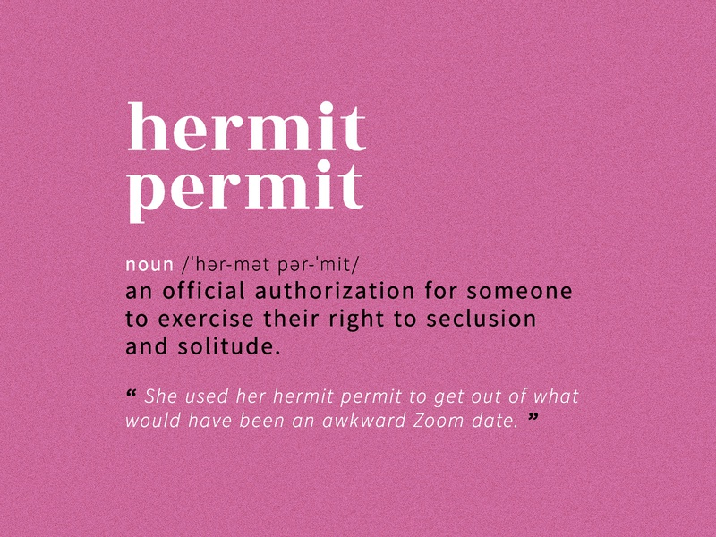 Hermit Permit google fonts pink hermit permit noun graphicdesign dictionary definition permit hermit typography