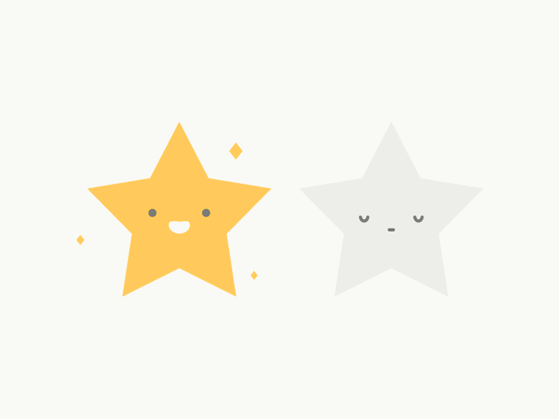 Star Icon happy sparkle sleeping star illustration product icon app design