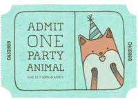 16 invitation partyanimal 2 front p