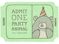 16 invitation partyanimal 0 front p