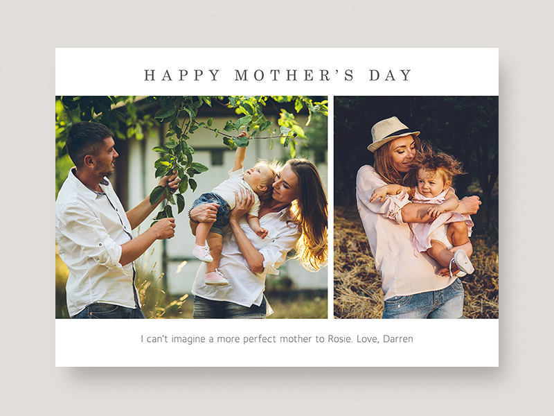 Mother's Day Photo Card minimal simple typography greeting card photo card mothers day
