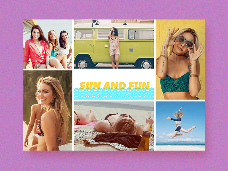 Summer Card summer fun sun sea design typography greeting card photo card