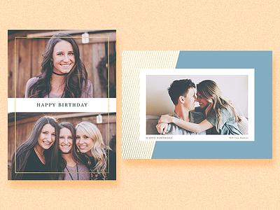 Birthday birthday design simple gold geometric lines minimalism greeting card photo card