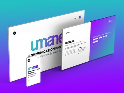 Umane Webdesign mobile onepage gradient webagency webdesign