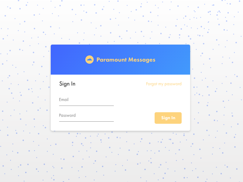 Paramount Messages - Mock Sign In by Kenyon Brown on Dribbble