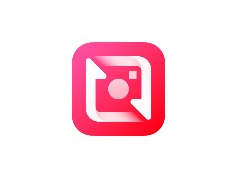 Repost for Instagram Icon mobile icon red appicon icon