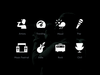 Spotify Genres Icon concept music genre spotify pictgram line icon set icon icons