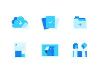 Cloud App Icon Set