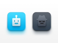 AI Browser App Icon - Normal / Secret